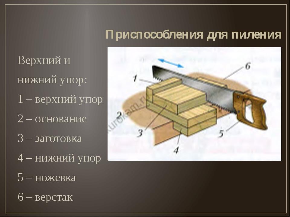 Верхний и нижний упор: 1 – верхний упор 2 – основание 3 – заготовка 4 – нижни...