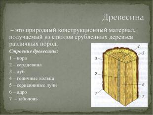 – это природный конструкционный материал, получаемый из стволов срубленных д