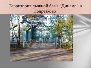 """Территория лыжной базы """"Динамо"""" в Подрезково"""
