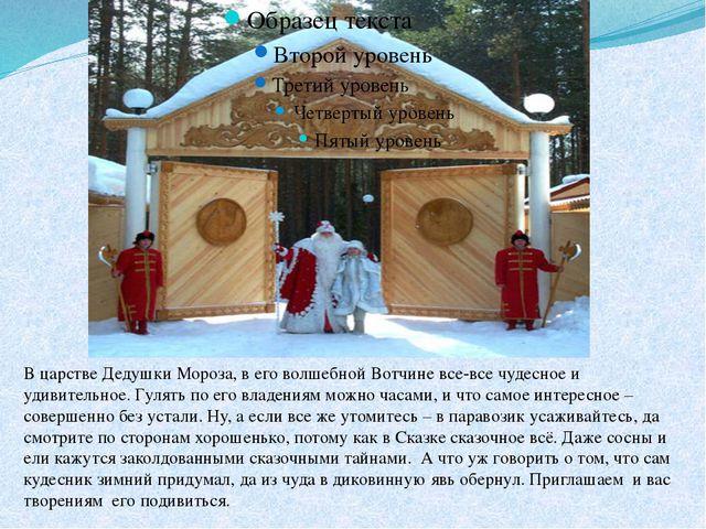 В царстве Дедушки Мороза, в его волшебной Вотчине все-все чудесное и удивител...