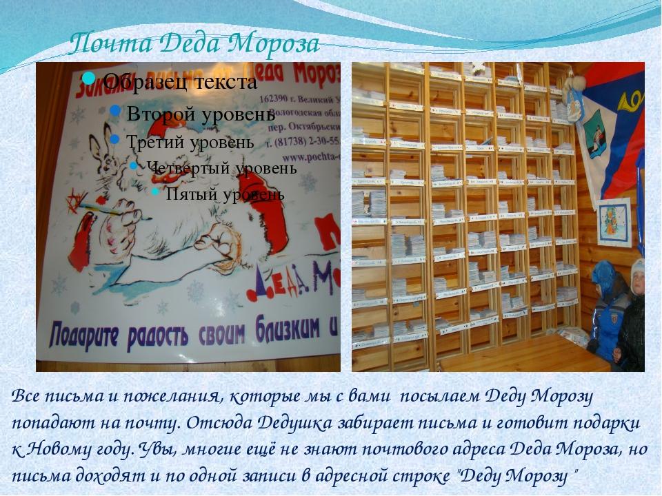 Почта Деда Мороза Все письма и пожелания, которые мы с вами посылаем Деду Мор...