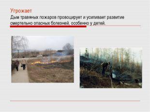 Угрожает Дым травяных пожаров провоцирует и усиливает развитие смертельно опа