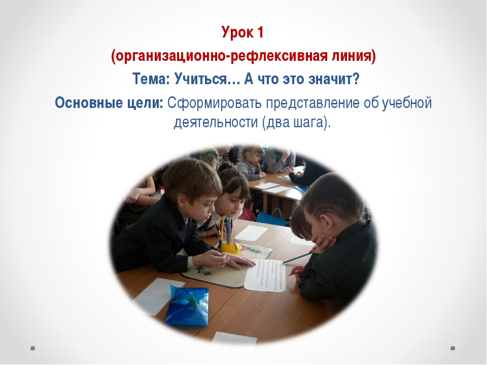 Урок 1 (организационно-рефлексивная линия) Тема: Учиться… А что это значит?...