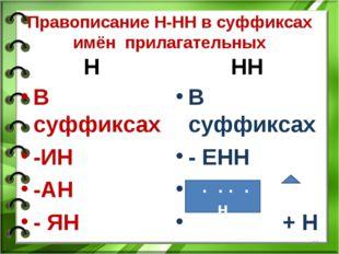 Презентация по русскому языку на тему одна и две буквы н в разных частях речи