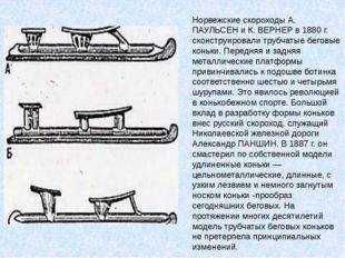 Норвежские скороходы А. ПАУЛЬСЕН и К. ВЕРНЕР в 1880 г. сконструировали трубча