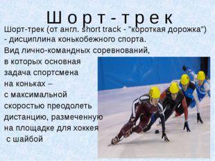 """Ш о р т - т р е к Шорт-трек (от англ. short track - """"короткая дорожка"""") - дис"""