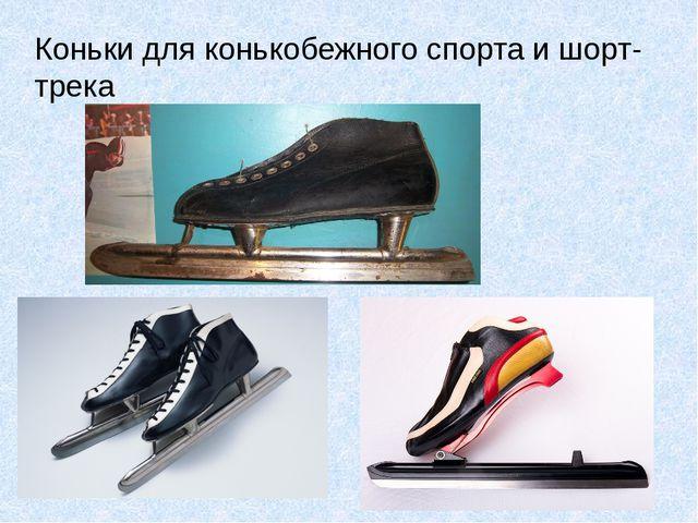 Коньки для конькобежного спорта и шорт-трека