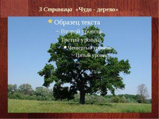 3 Страница «Чудо - дерево»