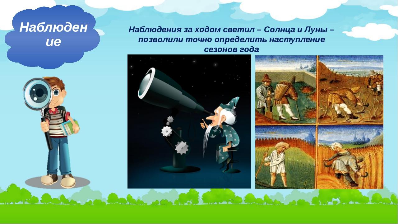 Наблюдения за ходом светил – Солнца и Луны – позволили точно определить насту...