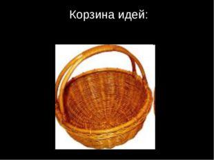 Корзина идей: