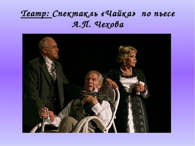 Театр: Спектакль «Чайка» по пьесе А.П. Чехова