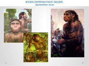ЖИЗНЬ ПЕРВОБЫТНЫХ ЛЮДЕЙ. Древнейшие люди