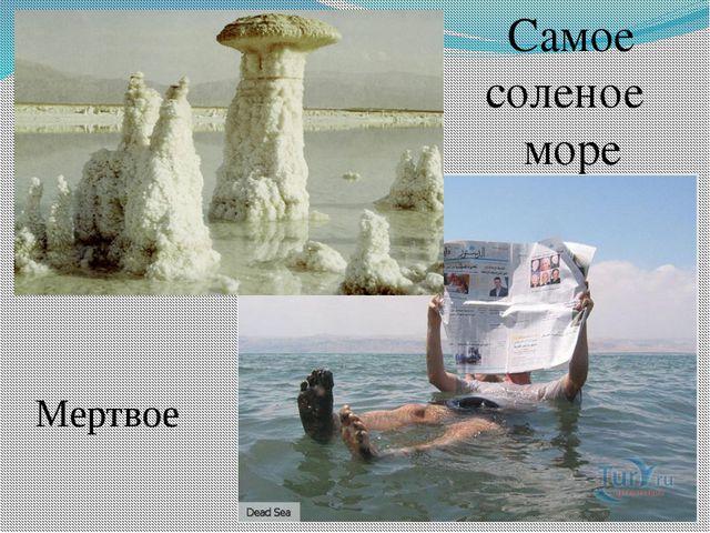 Cамое соленое море Мертвое