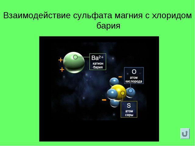 Взаимодействие сульфата магния с хлоридом бария
