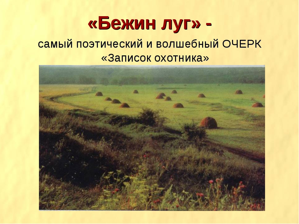 «Бежин луг» - самый поэтический и волшебный ОЧЕРК «Записок охотника»