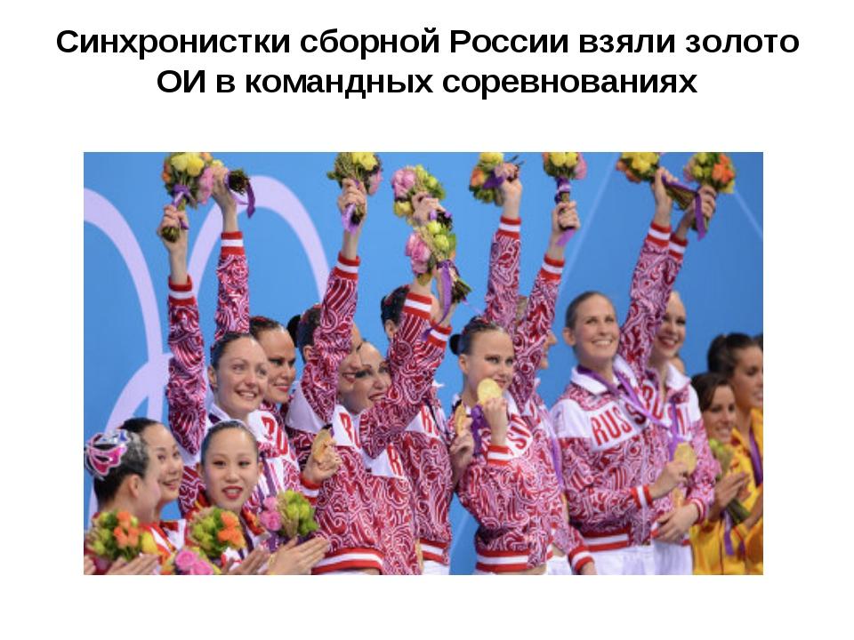 Синхронистки сборной России взяли золото ОИ в командных соревнованиях