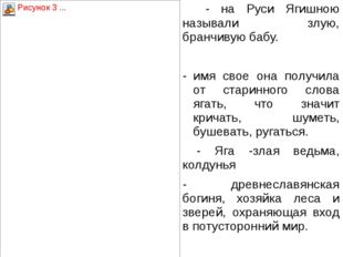 - на Руси Ягишною называли злую, бранчивую бабу.  имя свое она получила от
