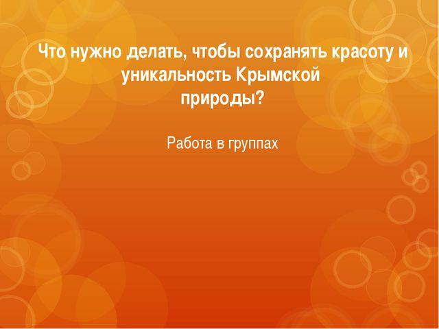Что нужно делать, чтобы сохранять красоту и уникальность Крымской природы? Ра...