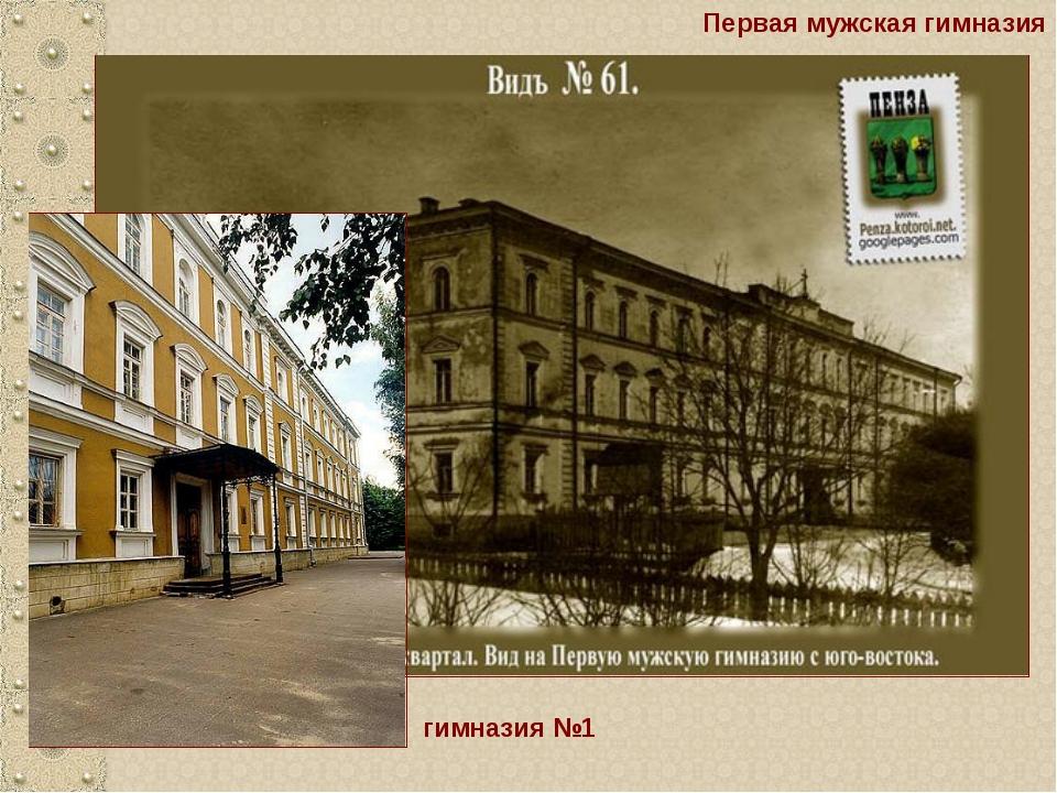 Первая мужская гимназия гимназия №1