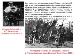 Император Николай II и цесаревич Алексей в Александровском парке Царского Сел