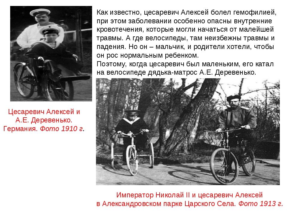 Император Николай II и цесаревич Алексей в Александровском парке Царского Сел...