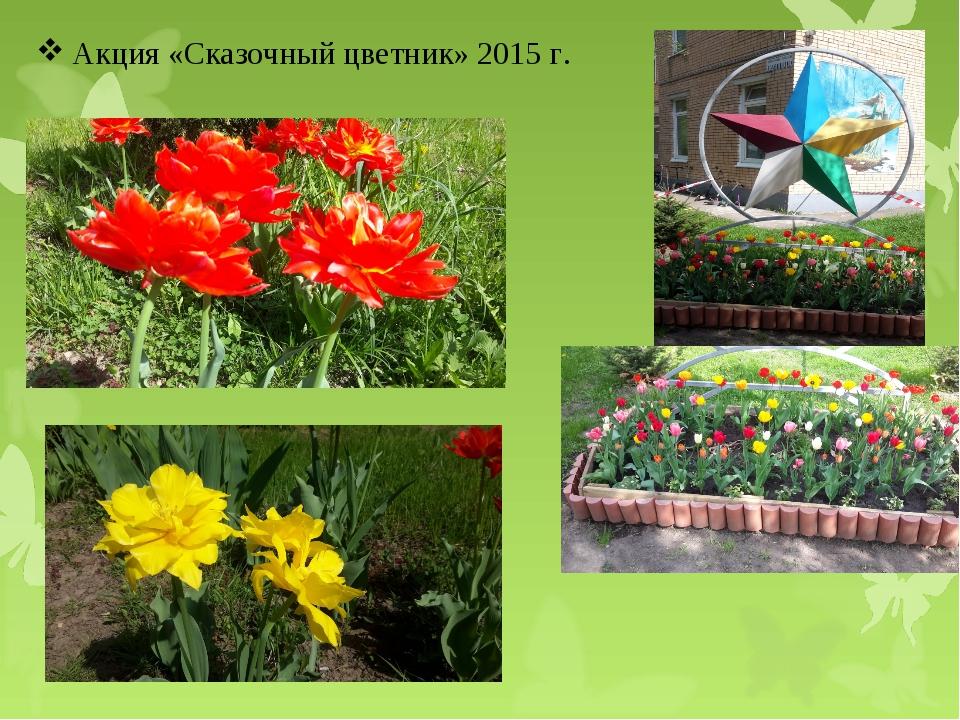 Акция «Сказочный цветник» 2015 г.