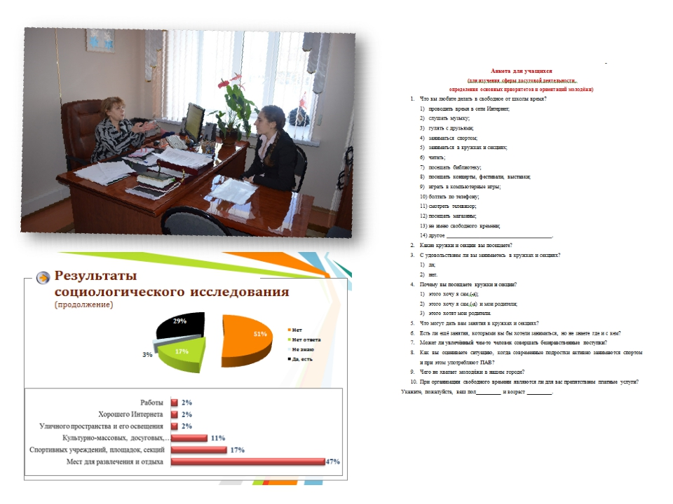 Началась работа – составление анкет, опрос респондентов, интервьюирование экс...
