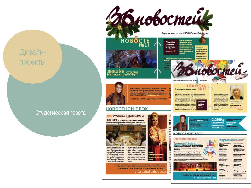 Студенческая газета Дизайн-проекты