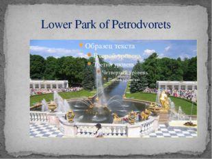 Lower Park of Petrodvorets