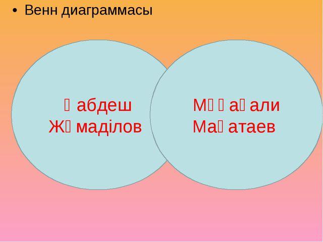 Венн диаграммасы Қабдеш Жұмаділов Мұқағали Мақатаев