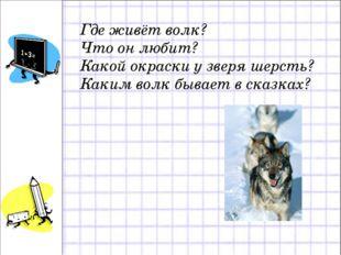Где живёт волк? Что он любит? Какой окраски у зверя шерсть? Каким волк бывает