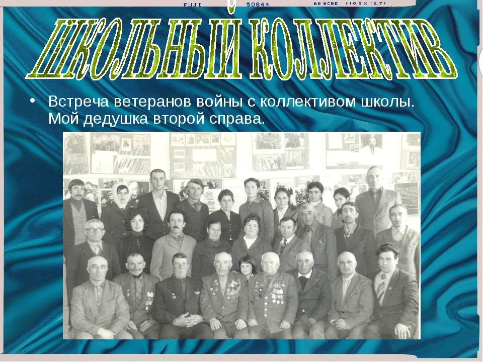 Встреча ветеранов войны с коллективом школы. Мой дедушка второй справа.