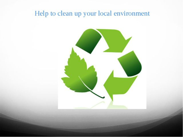 Help to clean up your local environment