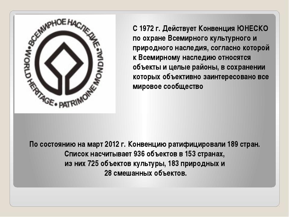 По состоянию на март 2012 г. Конвенцию ратифицировали 189 стран. Список насч...