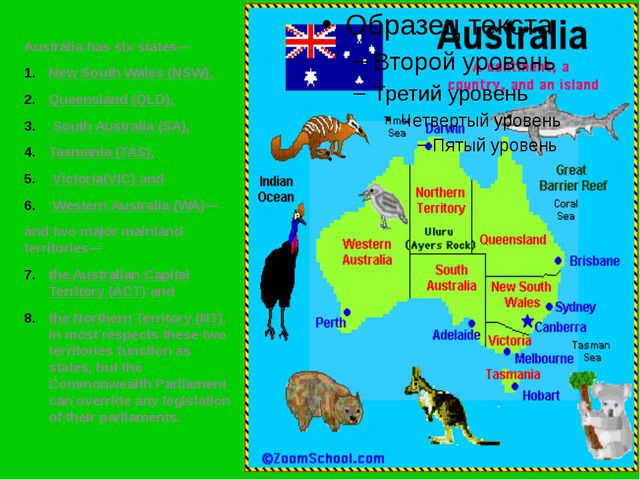 Australia has six states— New South Wales (NSW), Queensland (QLD), South Aust...
