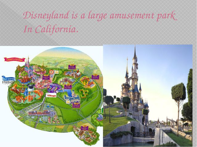 Disneyland is a large amusement park In California.