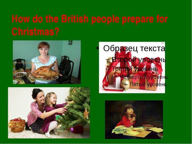 How do the British people prepare for Christmas?