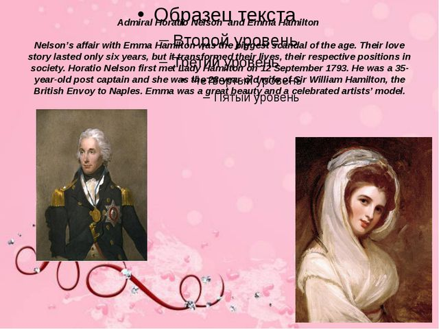 Admiral Horatio Nelson and Emma Hamilton Nelson's affair with Emma Hamilton w...