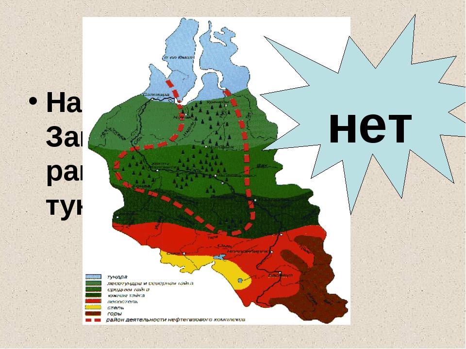 Набор природных зон Западно-Сибирской равнины ограничен тундрой и тайгой. нет