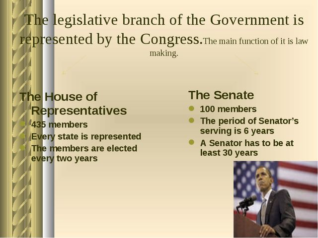 The House of Representatives 435 members Every state is represented The memb...