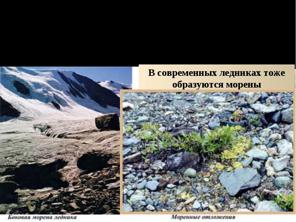 ДЕЙСТВИЕ ЛЬДА И СНЕГА ПОКРОВНОЕ ОЛЕДЕНЕНИЕ Ледник оставил морену – материал,...