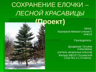 Автор: Корнаухов Михаил ученик 5 класса Руководитель: Дундакова Татьяна Алекс