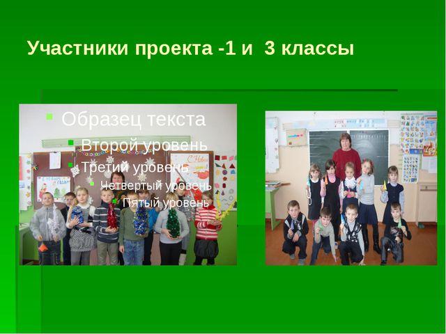 Участники проекта -1 и 3 классы