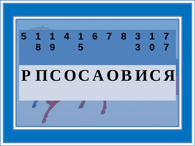 5 18 19 4 15 6 7 8 33 10 77 Р П С О С А О В И С Я