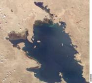 Южноамериканское высокогорное озеро Титикака