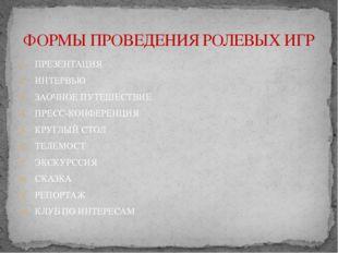 ПРЕЗЕНТАЦИЯ ИНТЕРВЬЮ ЗАОЧНОЕ ПУТЕШЕСТВИЕ ПРЕСС-КОНФЕРЕНЦИЯ КРУГЛЫЙ СТОЛ ТЕЛЕМ
