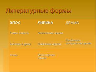 Литературные формы