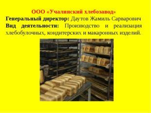 ООО «Учалинский хлебозавод» Генеральный директор: Даутов Жамиль Сарварович Ви