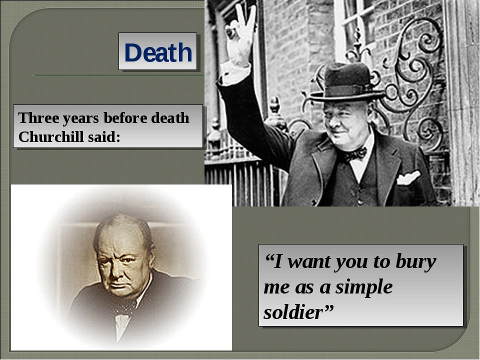 """Death """"I want you to bury me as a simple soldier"""" Three years before death Ch..."""