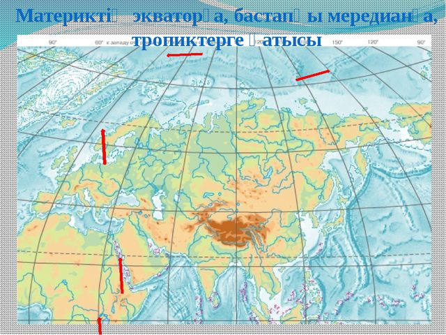 Евразияның ара қашықтығы Евразияның батыстан шығысқа дейінгі қашықтығы ? км